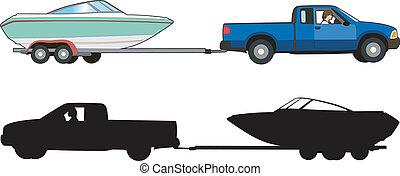 portare barca roulotte