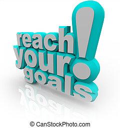 portata, -, incoraggiare, riuscire, mete, parole, lei, tuo, 3d