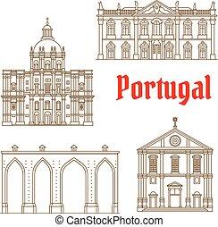 portoghese, limiti, icone, viaggiare, lisbona