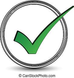 positivo, checkmark, vettore