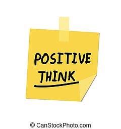positivo, inviarla, pensare