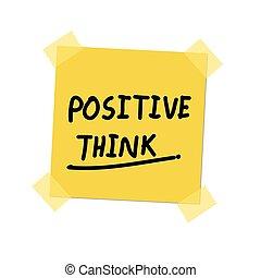 positivo, pensare, inviarla