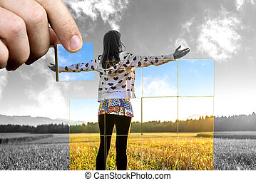 positivo, vita, prospettiva