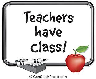 possedere, insegnanti, class!