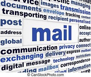 posta, messaggio, concetto, creativo