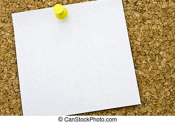 postit, ogni giorno, mio, questo, corkboard., giallo
