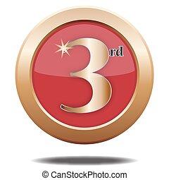 posto, 3, bronzo, icona