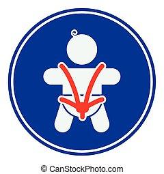 posto bambino, cintura di sicurezza
