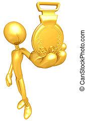 posto, medaglia, oro, 1