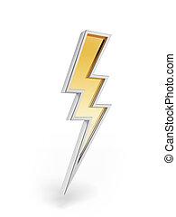 potente, simbolo, illuminazione