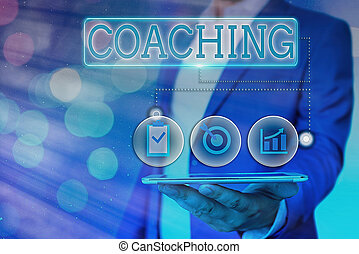 potenziale, loro, testo, concetto, coaching., proprio, individui, performance., scrittura, rendere massimo, sbloccando, significato