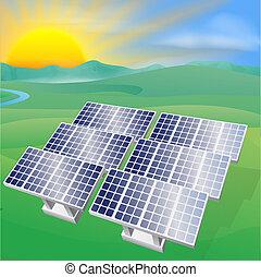 potere, energia solare, illustrazione