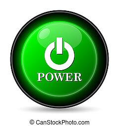 potere, icona, bottone