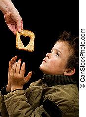 povero, alimentazione