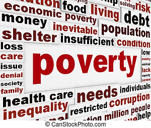 povertà, messaggio, concetto, avvertimento
