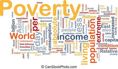 povertà, parola, nuvola