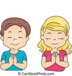 pregare, bambini
