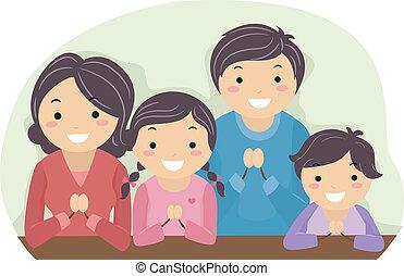 pregare, famiglia