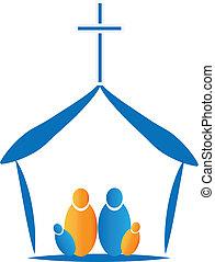 pregare, icona, famiglia, chiesa