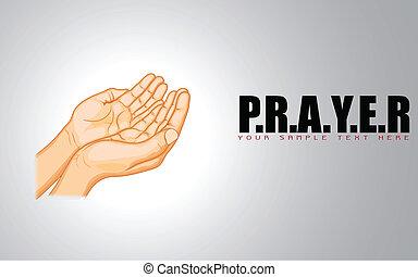 pregare, mano