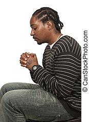 pregare, uomo nero