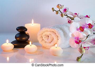 preparazione, massaggio, asciugamani