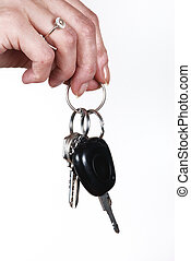 presa a terra, chiave, donna macchina
