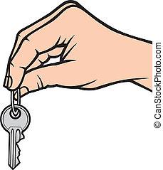 presa a terra, chiave, mano