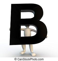 presa a terra, persone, b, carattere, piccolo, nero, umano, lettera, 3d