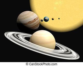 presentation., abstact, sistema solare