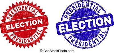 presidenziale, superficie, sigilli, corroso, arrotondato, rosetta, elezione