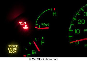 pressione, motore, servizio, olio