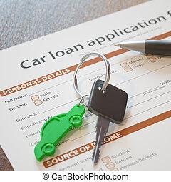 prestito automobile, domanda