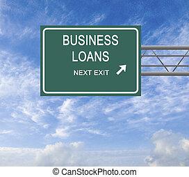 prestito, strada, affari firmano