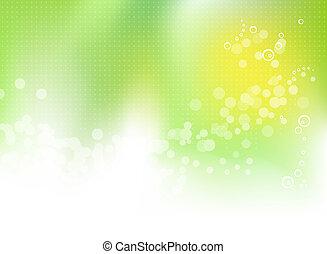 primavera, astratto, sfondo verde