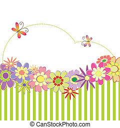 primavera, colorito, estate, floreale