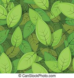 primavera, foglie, verde, seamless, fondo