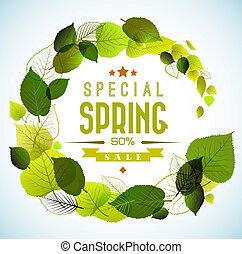 primavera, fondo, vettore, vendita