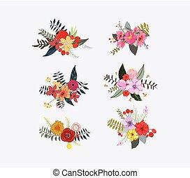 primavera, grappoli, floreale, fiore
