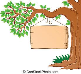 primavera, immagine, albero 3, tema, ramo