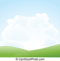 primavera, nube cielo, paesaggio