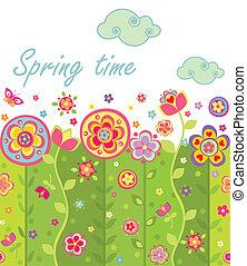primavera, seamless, scheda