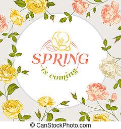 primavera, text., fondo