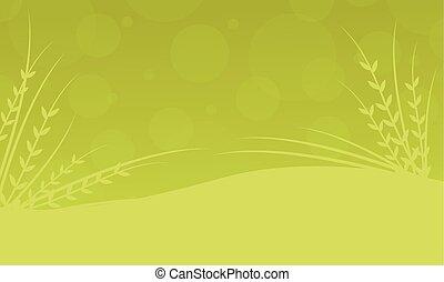 primavera, vettore, fondo, illustrazione, collezione