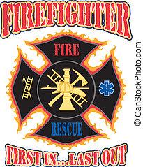 primo, disegno, pompiere