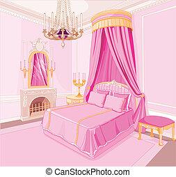 principessa, camera letto