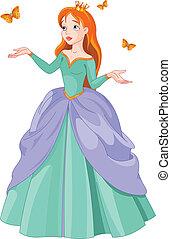 principessa, farfalle