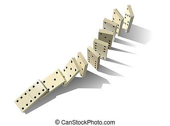 principle., domino, vettore, illustrazione