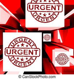 priorità, urgente, cubi, mostra