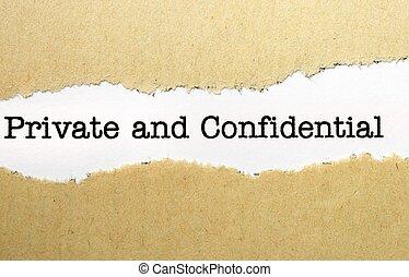 privato, confidenziale